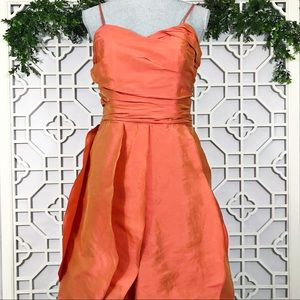 Alvina Valenta Orange Silk Taffeta Dress